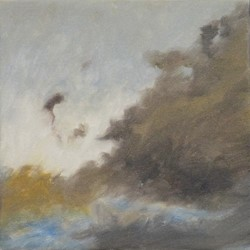 Kevin Robertson, Evening Cloud Study, 2018, oil on canvas, 30.5 x 30.5cm