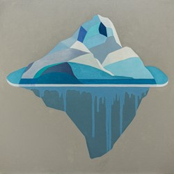 Caspar Fairhall, Iceberg, 2017, oil on Belgian linen, 83.5 x 83.5cm
