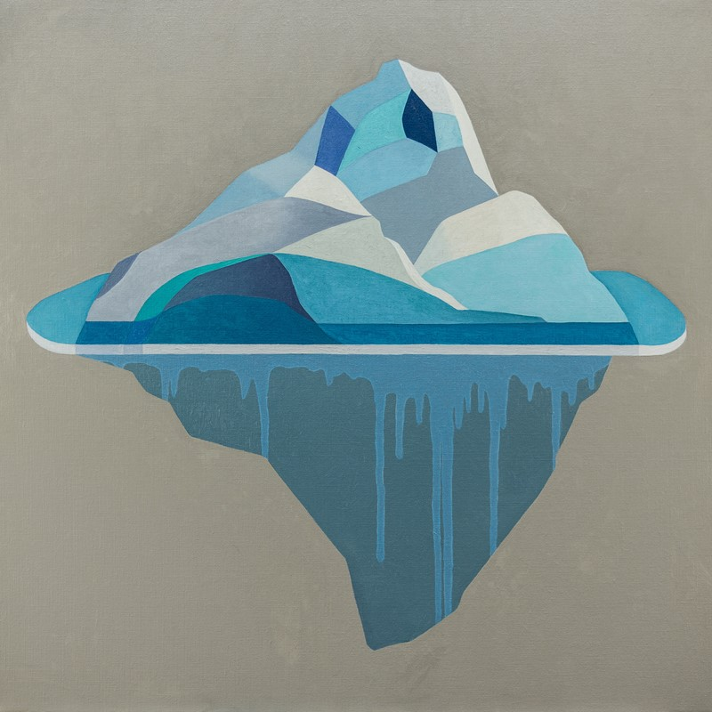 Iceberg, 2017, oil on Belgian linen, 83.5 x 83.5cm