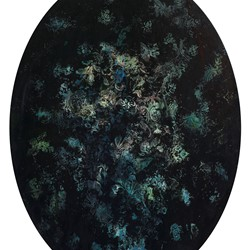 Angela Stewart, Sapience 9, 2017, oil and acrylic on board, 90 x 68cm
