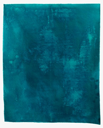 Penny Coss, Untitled Blue, 2018, acrylic on unstretched canvas, 160 x 150cm