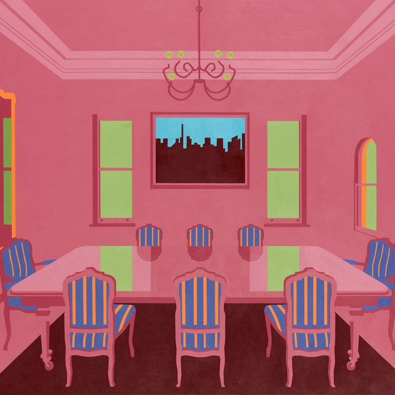 Joanna Lamb, Interior 1A, 2011, acrylic on canvas, 106 x 140cm