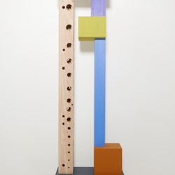 Theo Koning, Heirloom Stack #2, 2017, paint on wood, 129 x 38 x 20cm