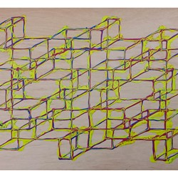 Alex Spremberg, Liquid Structures 12, enamel on wood, 61 x 118 x 3cm