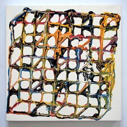 Alex Spremberg, Liquid Geometry 1, enamel on canvas, 60 x 60x 3cm