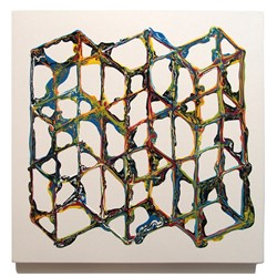 Alex Spremberg, Liquid Geometries 4, enamel on MDF, 60 x 60 x 3cm