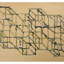 Alex Spremberg, Liquid Geometry 11, enamel on plywood, 61 x 84cm