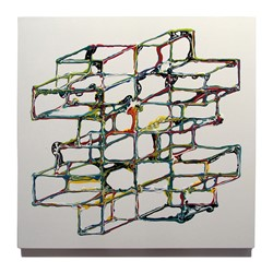 Alex Spremberg, Liquid Geometries 3, enamel on MDF, 60 x 60 x 3cm (1)