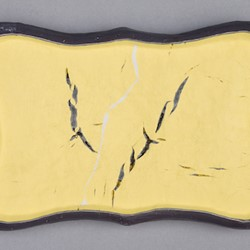 Andre Lipscombe, Hollow Ignot (Yellow), 2018, acrylic paint and wood, 14.5 x 21.5 x 4cm