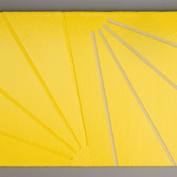 Andre Lipscombe, Painting (Yellow) 2016-2017, acrylic paint on wood, 42.5 x 60.5 x 4cm