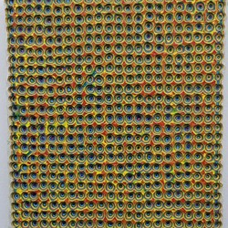 Andre Lipscombe, Painting with Chromatophores, 2018, acrylic paint on wood, 30 x 23 x 3cm