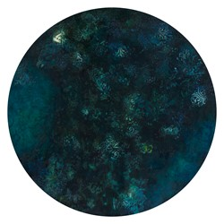 Angela Stewart, Sapience #2, 2017, acrylic and oil on board, 75cm diameter (1)