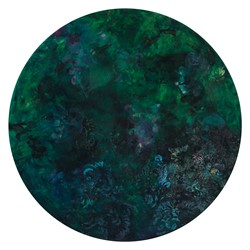 Angela Stewart, Sapience 7, 2017, acrylic and oil on board, 75cm diameter