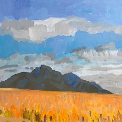 Jane Martin, Stirling Range, 2017, oil on board, 30 x 40cm