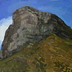 Jane Martin, Bluff Knoll, 2017, oil on board, 30 x 40cm