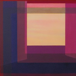 Jeremy Kirwan-Ward, View with a Room 8, acrylic on canvas, 65.5 x 121cm