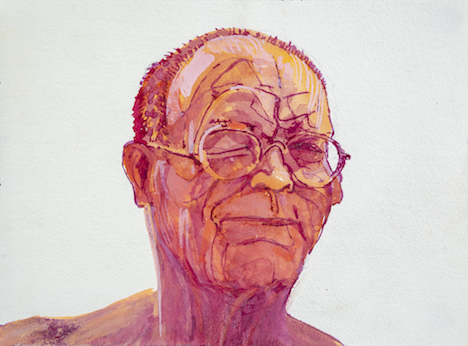 George Haynes, Self Portrait 2018, gouache