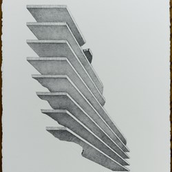 Caspar Fairhall, Remnant, 2018, graphite and ink pencil on Arches paper, 77 x 58cm