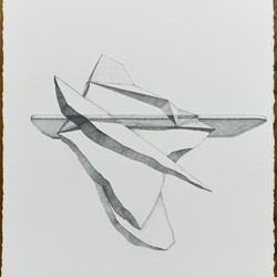 Caspar Fairhall, Iceberg, 2018, graphite and ink pencil on Arches paper, 77 x 58cm