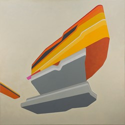 Caspar Fairhall, Below is Above, 2017, oil on Belgian linen, 203 x 203cm