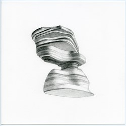 Caspar Fairhall, Strata, 2015, graphite and ink pencil on Arches paper, 21 x 21cm