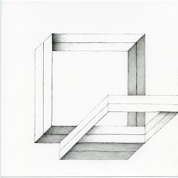 Caspar Fairhall, Square Braid, 2015, graphite and ink pencil on Arches paper, 21 x 21cm