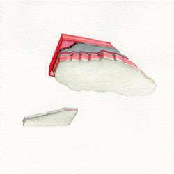 Caspar Fairhall, Strata II, 2015, watercolour on Arches paper, 21 x 21cm