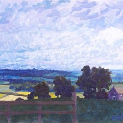 George Haynes, Towards the Dales, 1993, oil on board, 50 x 60cm