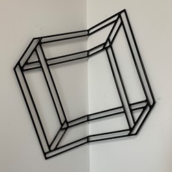 Jennifer Cochrane, Impossible Shadow #7, 2018, mild steel, powder coated, 42 x 38 x 25cm