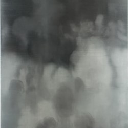 Paul Uhlmann, A forever falling asunder of forms, 2005, oil on canvas, 183 x 123cm