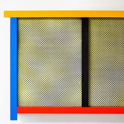 Bevan Honey and Paul Moncrieff, BHPM8, spray paint on canvas, acrylic paint on plywood, 70 x 50cm
