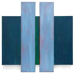 Trevor Vickers, Untitled, 1979-80, acrylic on canvas, 76.5 x 76.5cm