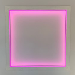 Jon Tarry, With, 2018, neon, aluminium, 120 x 120 x 6cm