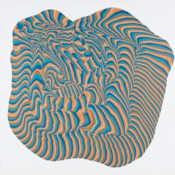 Alex Spremberg, Swirl, 2013, enamel on canvas, 150 x 150 x 3cm