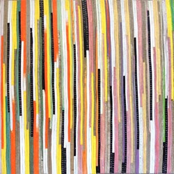 Eveline Kotai, Karri Country 2, 2014, acrylic, oil, nylon thread on linen, 51 x 92cm