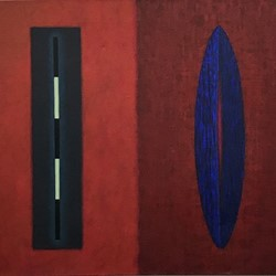 Jeremy Kirwan-Ward, Untitled 1993, acrylic on canvas, 61.5 x 72cm