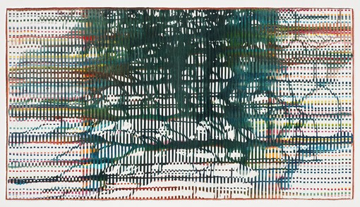 Eveline Kotai, Electric Underground 2013, acrylic, nylon thread on canvas, 60 x 130cm. Collection of the artist.jpg