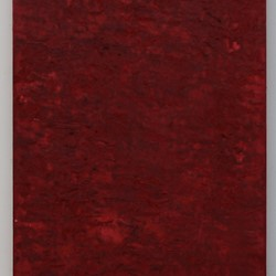 Michele Theunissen, Vertical Red, 2019, pigment, egg tempera, oil on canvas, 167.5 x 30cm