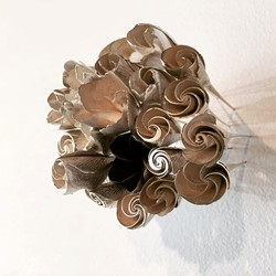 Sarah Elson, Frangipani Pins, 2016, silver and copper, sizes variable