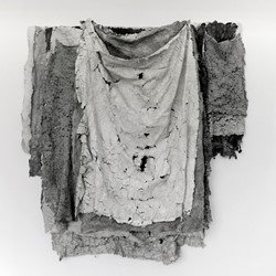 Susan Roux, Blankets, 2018, ink, thread and carbon on Canson paper, 190 x 230 x 30cm