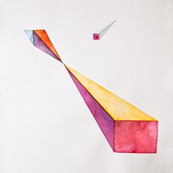 Caspar Fairhall, Void and Projection IV, 2011, watercolour on paper, 85 x 83cm.jpg