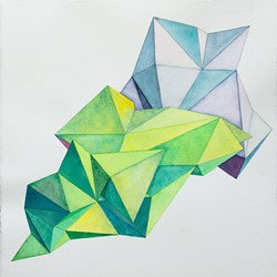 Caspar Fairhall, Flex and Fold, 2014, watercolour on paper, 85 x 83cm.jpg