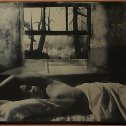 Connie Petrillo, Boy Sleeping, 2019, wet plate collodion ambrotype, 40.65 x 51cm
