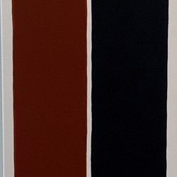 Trevor Vickers, Untitled 2019, acrylic on canvas, 122 x 36cm