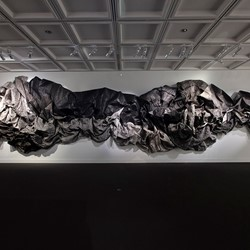 Susan Roux, (un)  fold, 2019, Canson paper, ink, thread, and polish, dimensions variable. Photo Bo Wong (1)