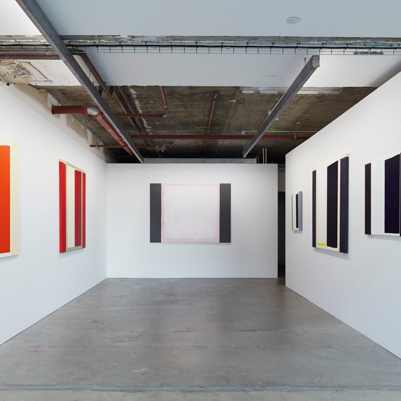 Trevor Vickers, New Paintings and Prints 2019, installation view. Acorn Photo