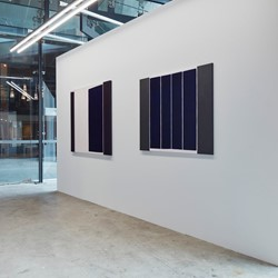 Trevor Vickers, New Paintings and Prints 2019, Art Collective WA. Acorn Photo. Installation view, Cathedral Square gallery