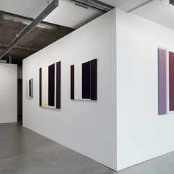 Trevor Vickers, New Paintings and Prints 2019, Art Collective WA. Acorn Photo. Paintings in installation view