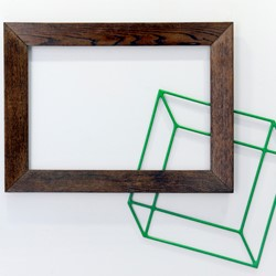 Jennifer Cochrane, Big Picture 1, wooden picture frame and powercoated steel, 73cm x 85cm x 3cm. Photo Chris Kershaw