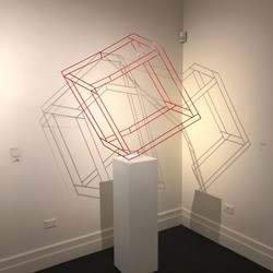 Jennifer Cochrane, Impossible Shadow 19, powercoated steel, 112 x 69 x 77cm